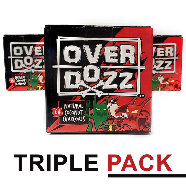 Overdozz Charcoal Triple Pack