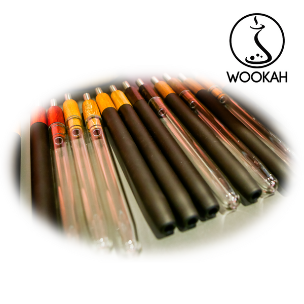 Wookah wooden mouthpiece CARBON glass