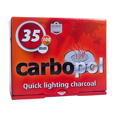 Carbopol Hookah Coals - 35mm - 1 Box (100 Pieces)