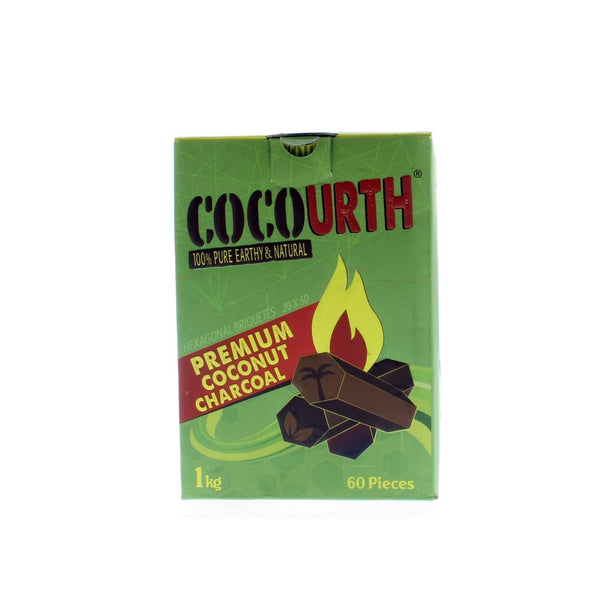 CocoUrth Natural Hookah Charcoal Hexagon
