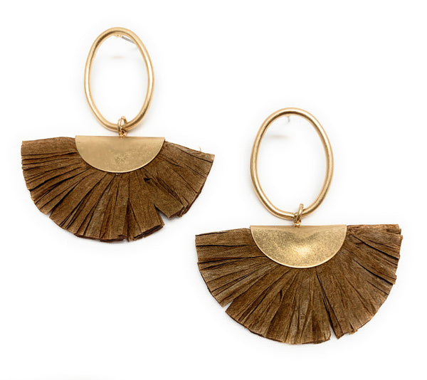 Rasbora Paper & Gold Dangle Earrings