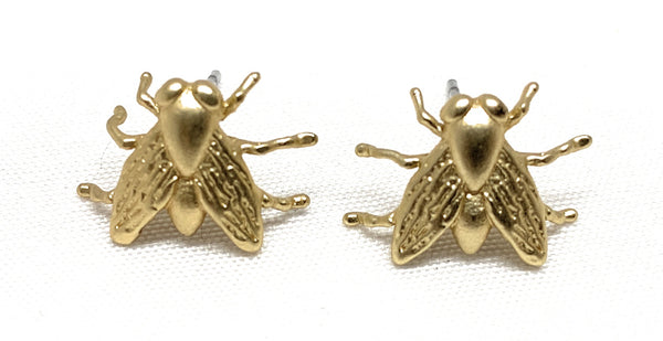 Taimen Gold Bug Earrings