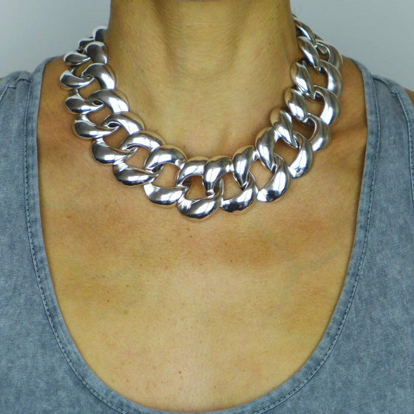Bigeye Chain Statement Necklace