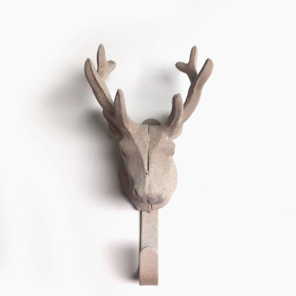 Halosaur Antique Beige Deer Head Hook