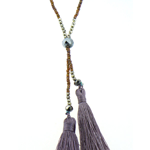 Brotula Boho Multitassel Long Necklace