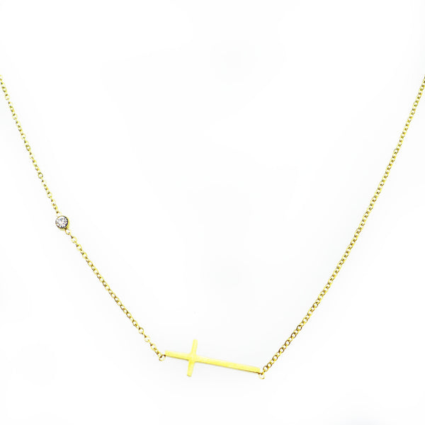 Tetra Gold Cross Layering Necklace