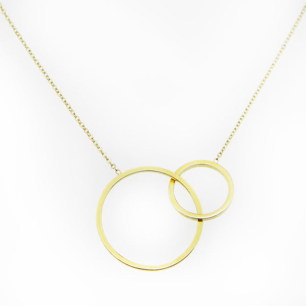 Goldeye Gold Circles Gypsy Layering Necklace