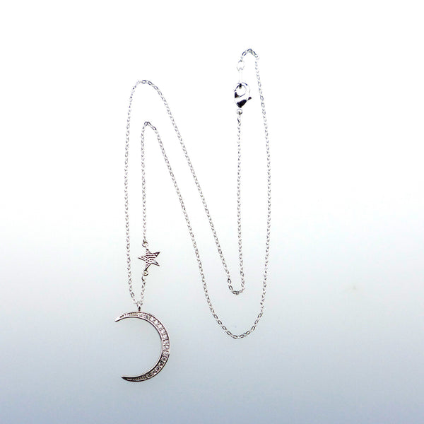 Mooneye Silver Moon Gypsy Necklace