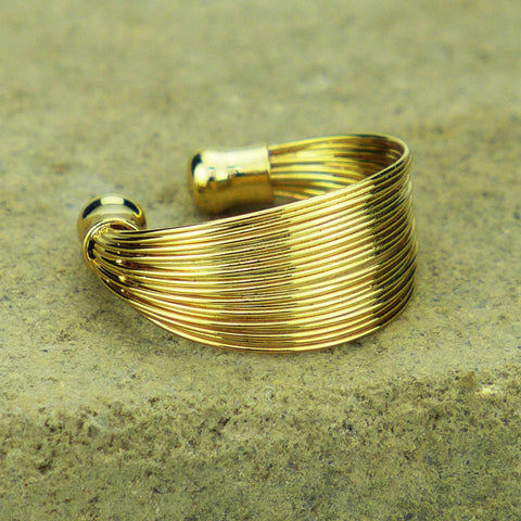 Rohu Stacked Gold Gypsy Ring