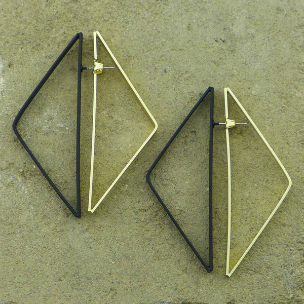 Blacktip Tope Statement Earrings