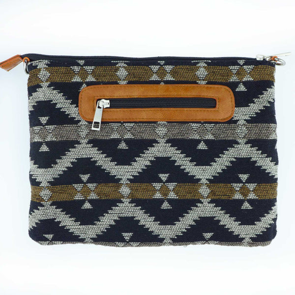 Flagtail Silver Coin Gypsy Clutch