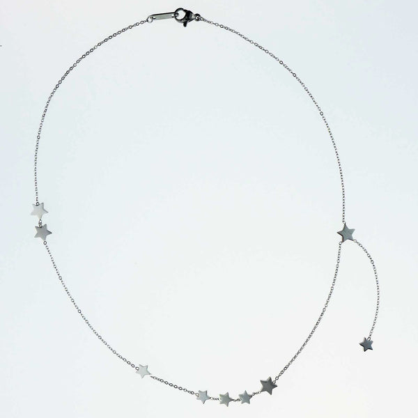 Devario Silver Stars Gypsy Necklace