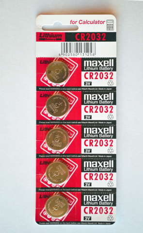 CR2032 Lithium Battery (5-pack) - MakerTechStore