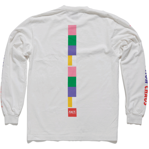 Color Bar - Long Sleeve - White