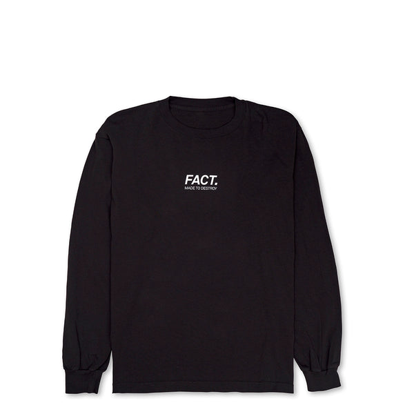 Logotype Small - Long Sleeve - Black