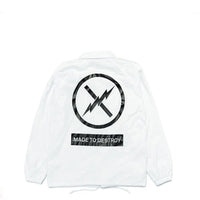 Box Logo - Coach Jacket - white