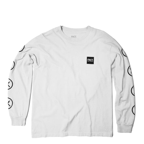 FACT Brand Long Sleeve Box Logo Tee White