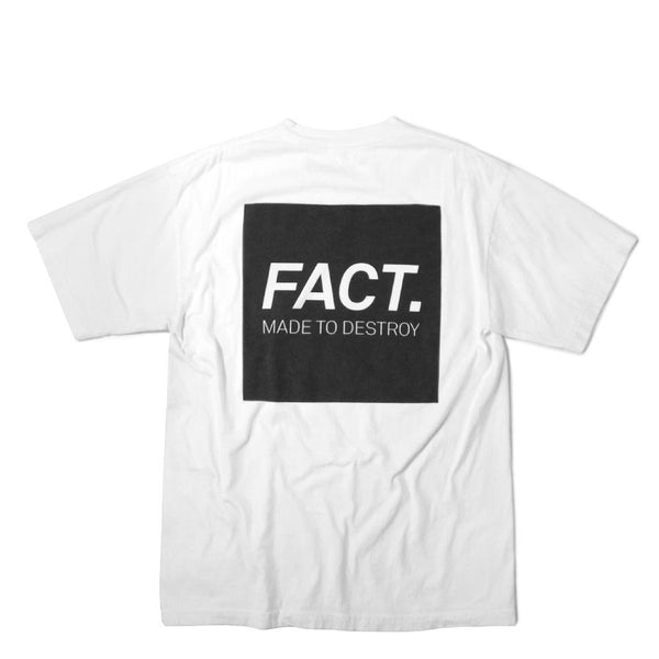 FACT Brand Box Logo Tee White