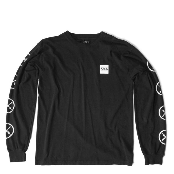 FACT Brand Long Sleeve Box Logo Tee Black