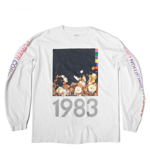 FACT Brand Long Sleeve Corruption Tee White