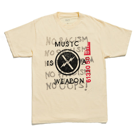 Music is a Weapon - Short Sleeve - Light Yellow
