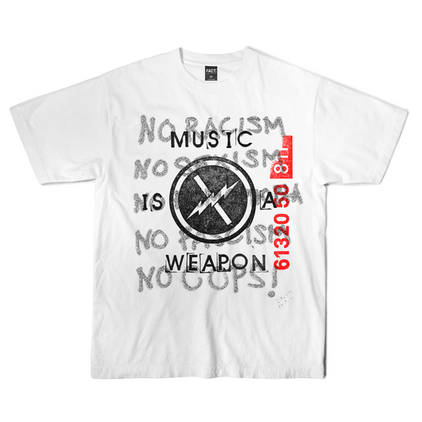 Music is a Weapon - Short Sleeve - White