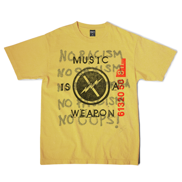 Music is a Weapon - Short Sleeve - Yellow
