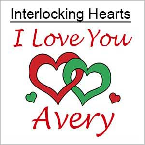 Interlocking Hearts Design