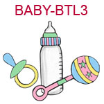 BABY-BTL3 Rainbow baby bottle pacifier and rattle