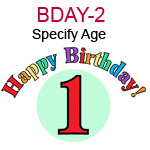 BDAY-2 Happy Birthday written above red number specify the number you would like