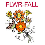 FLWR-FALL A bouquet of orange flowers