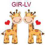 GIR-LV Two giraffes with hearts
