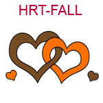 HRT-FALL Interlocking brown and orange hearts