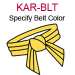 KAR-BLT a tied karate belt Please specify color