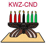 KWZ-CND A Kwanzaa Kinara with seven candles red green and black