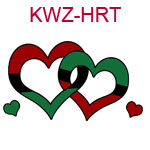 KWZ-HRT Interlocking red and green hearts