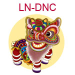 LN-DNC A Chinese lion dancer