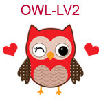OWL-LV2 Red Owl with hearts