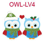 Two love owls Christmas