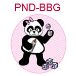 PND-BBG Girl panda with bottle rattle and building blocks