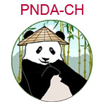 PNDA-CH Panda wearing Chinese cone hat
