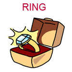 RING Engagement ring in box