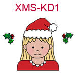Christmas kid 1 - fair skin blonde hair girl