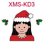 Christmas Kid 3 - fair skin black hair girl