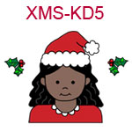 Christmas kid 5 - African American Girl