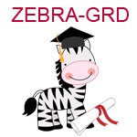 ZEBRA-GRD A zebra wearing a graduation cap with diploma