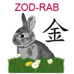 ZOD-RAB Chinese zodiac rabbit design