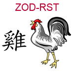 ZOD-RST Chinese zodiac rooster design