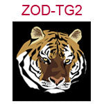 ZOD-TG2 Year of the tiger design on black background