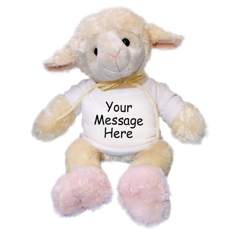Personalized Stuffed Lamb - 12 inch